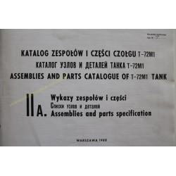 T-72M1 - KATALOG ZESPOŁÓW I...