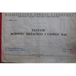 CZOŁG D-45 - ZESTAW REMONTU...