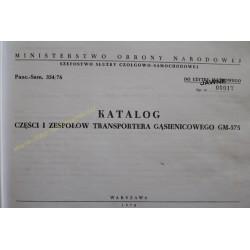 GM-575 - KATALOG CZĘŚCI I...