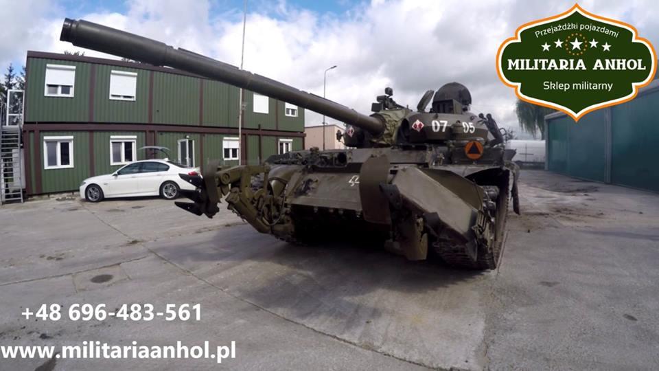 przejażdżka czołgiem militaria anhol