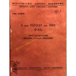 9mm GUN MODEL 1983 (P-83) -...