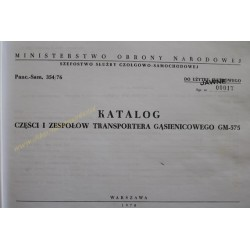 GM-575 - CATALOG OF PARTS...
